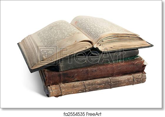 2e2e1e0e3c17a Free art print of The old opened book is christian Psalter. 19st century  Psalter. Isolated over white with clipping path | FreeArt | fa2554535