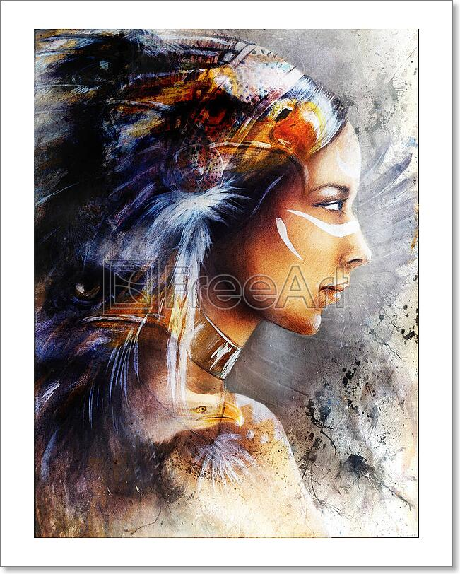 Beautiful Painting Of Native American Art Print Home Decor Wall Art Poster D Ebay