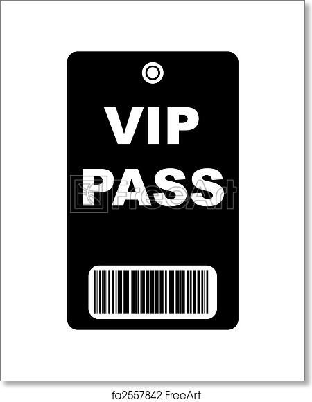 Free art print of Black VIP Pass