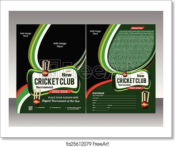 free art print of cricket flyer template vector cricket flyer