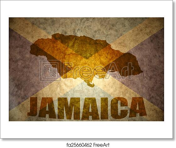 Free art print of Jamaica vintage map . Jamaica map on a vintage ...