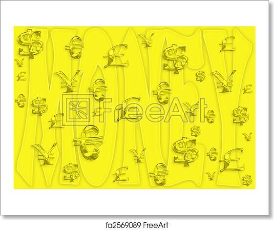 Free Art Print Of Money Wallpaper Money Wallpaper With Symbols And