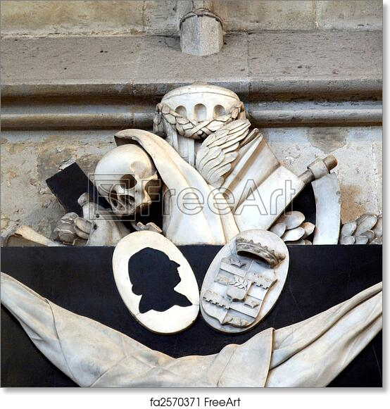 Free art print of Memento mori - skull, reaper sickle