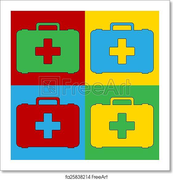 Free Art Print Of Pop Art First Aid Symbol Icons Pop Art First Aid