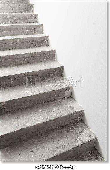 Free art print of Concrete staircase under construction