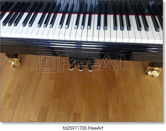 Ebony and ivory piano