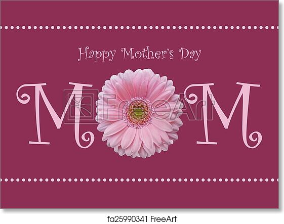 photograph regarding Happy Mothers Day Printable Card named No cost artwork print of Pleased Moms Working day mother crimson daisy