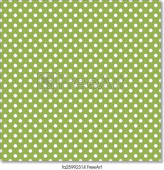 Free Art Print Of Seamless Green Polka Dot Background Freeart