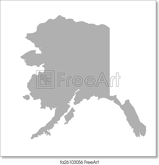 photograph about Printable Maps of Alaska known as Totally free artwork print of Alaska map