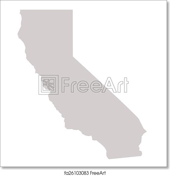 picture regarding California State Map Printable referred to as Totally free artwork print of California Nation map