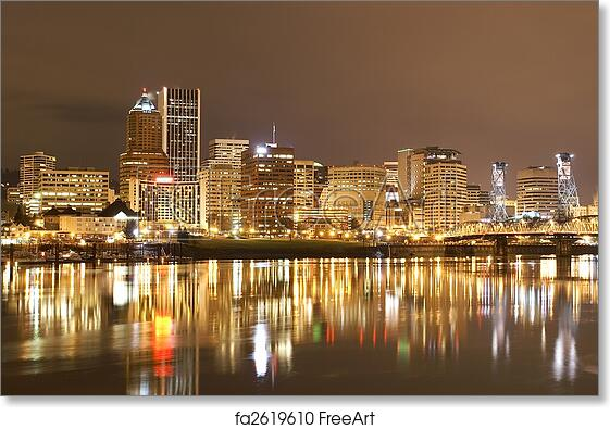 Free art print of View of Portland, Oregon Cityscape