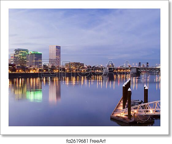 Free art print of Portland, Oregon Cityscape