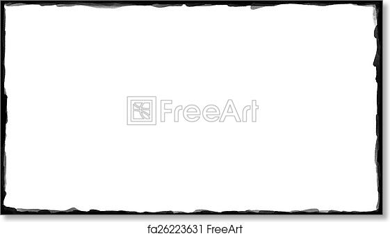 free art print of unique black border on white