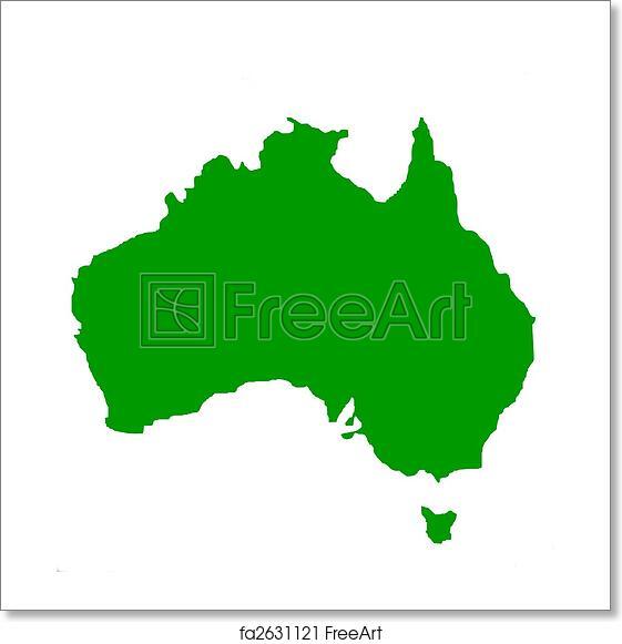 Map Australia Tasmania.Free Art Print Of Outline Map Of Australia And Tasmania