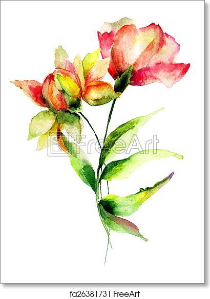 Free art print of chrysanthemum and poppy flowers chrysanthemum and free art print of chrysanthemum and poppy flowers mightylinksfo