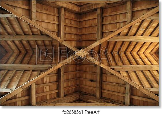 Free Art Print Of Wooden Roof Truss