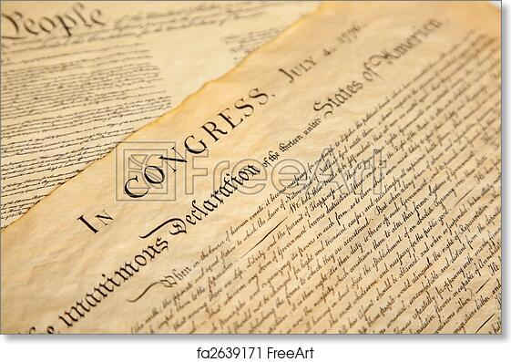 picture regarding Printable Declaration of Independence Text identify Totally free artwork print of Declaration of flexibility