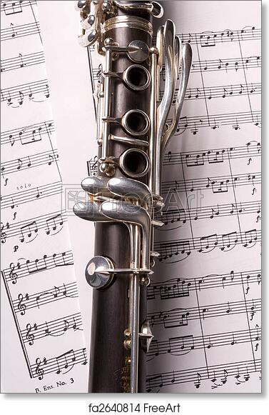 graphic about Free Printable Clarinet Sheet Music named Absolutely free artwork print of Clarinet