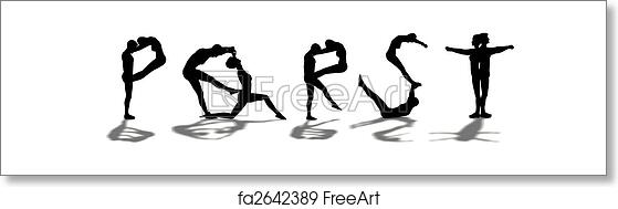 Free art print of Alphabet / Letters formed by woman and man PQRST