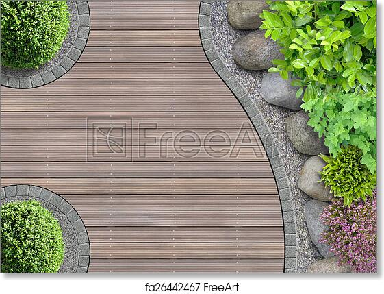 Free Art Print Of Garden Design Top View