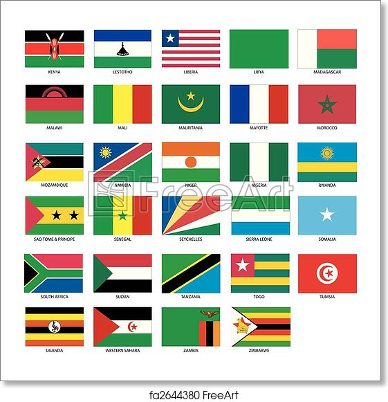 Free Art Print Of African Flags 2