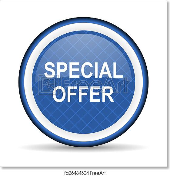 Free Art Print Of Special Offer Blue Icon Freeart Fa26484304
