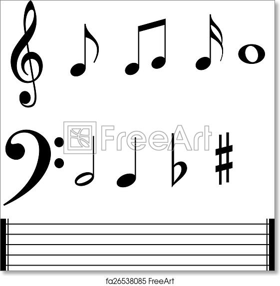 graphic regarding Printable Music Notes Symbols identify Absolutely free artwork print of Tunes observe symbols and strains