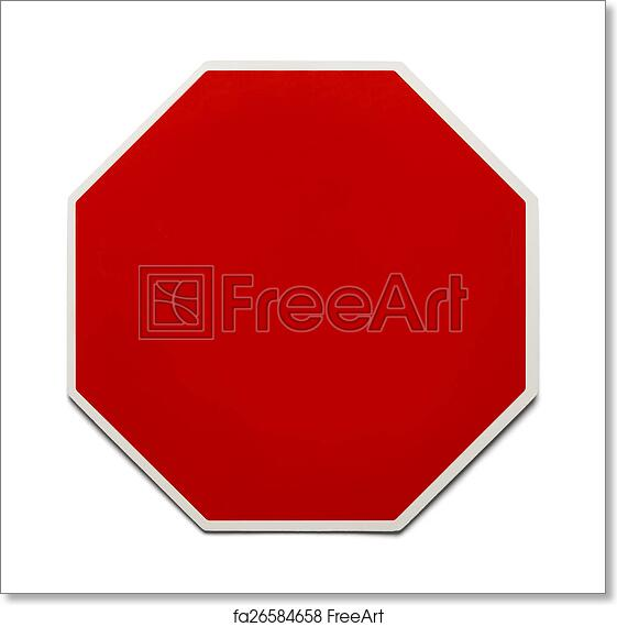 Free art print of Blank Stop Sign
