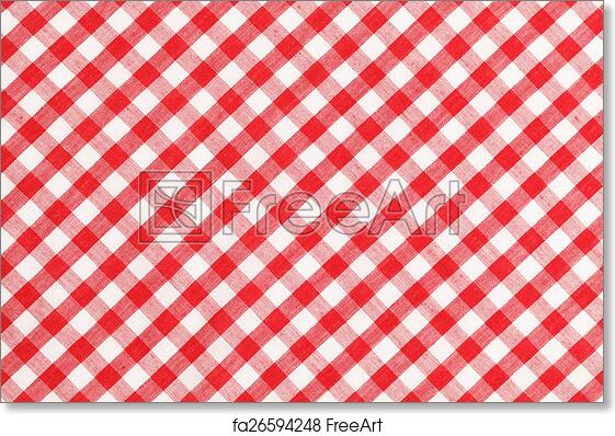 Free Art Print Of Checkered Table Cloth