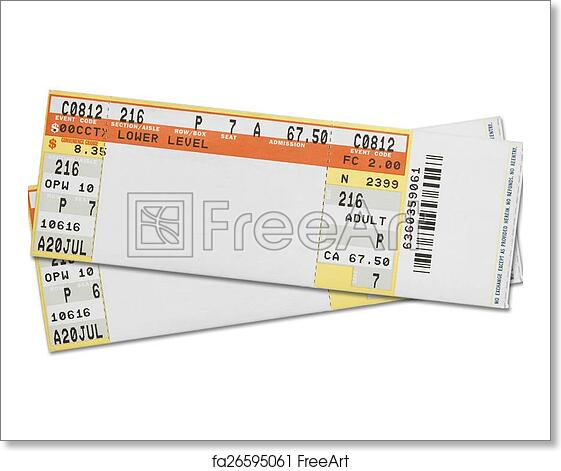 free art print of concert tickets pair of blank concert tickets