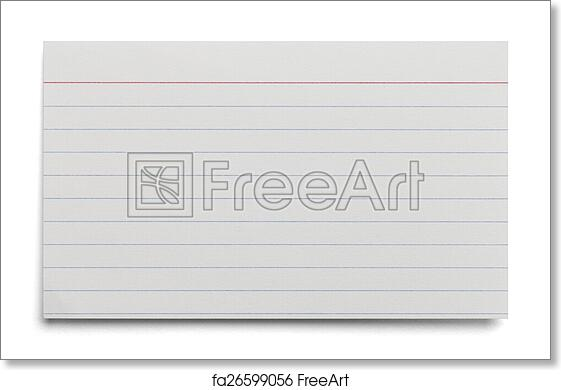 printing onto index cards
