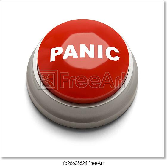 Red Button With Panic Printed On It Isolated On A White Background