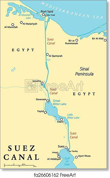 Mediterranean Political Map.Free Art Print Of Suez Canal Political Map Suez Canal Political Map