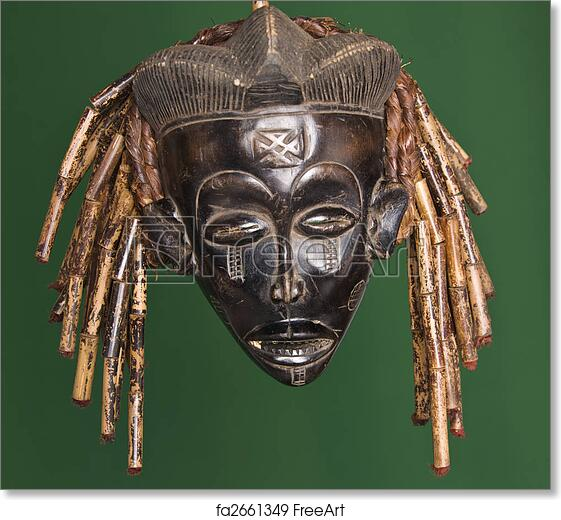 free art print of african mask collection of vintage african masks