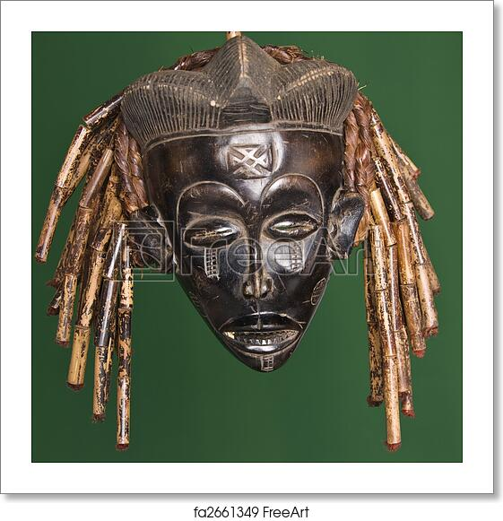 Free Art Print Of African Mask. Collection Of Vintage