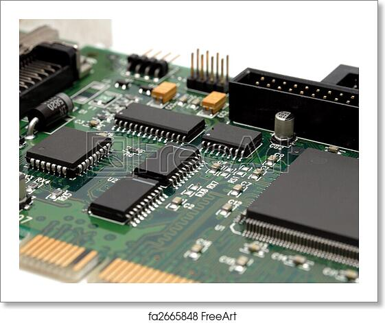 Free art print of Fragment of a computer printed-circuit-board