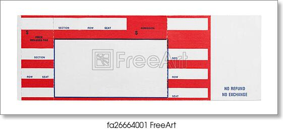 Free art print of Red Concert Ticket. Blank Red Concert Performance ...