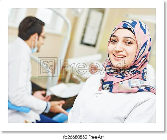Free art print of Young asian dentist doctor