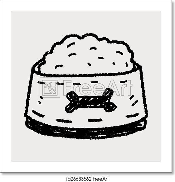 Free art print of Doodle dog food