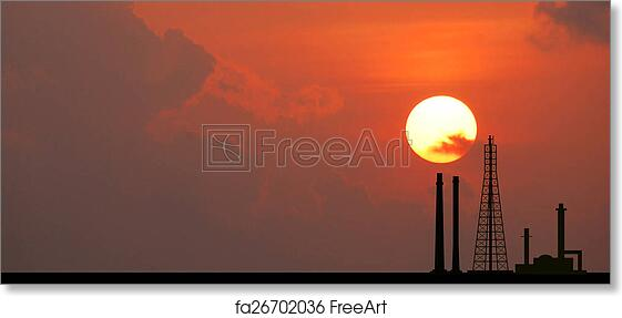 Free Art Print Of Power Plant Powerhouse Electric Industry
