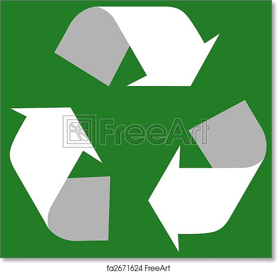 photograph relating to Printable Recycle Symbol identified as Totally free artwork print of Recycle brand