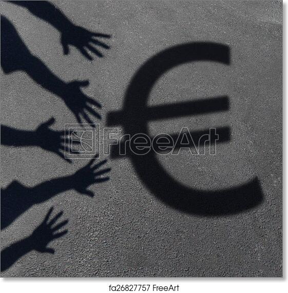Free Art Print Of Euro Demand Euro Demand As The Cast Shadow Of A