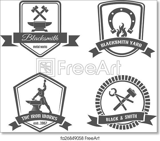 picture relating to Printable Trophy Labels named No cost artwork print of Blacksmith labels