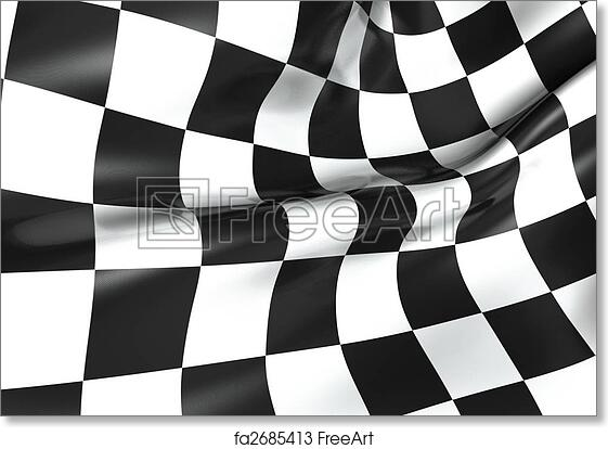 photo regarding Checkered Flag Printable referred to as Free of charge artwork print of Racing checkered flag