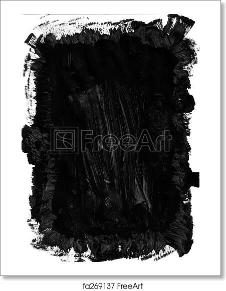 Free Art Print Of Paint Brush Mark Making Black Paint Brush Mark