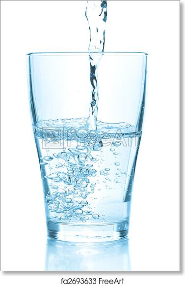 free art print of water pouring into glass water pouring into glass