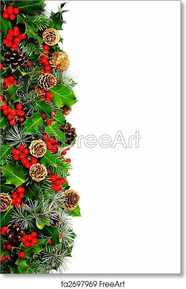 Christmas Boarder.Free Art Print Of Christmas Holly Border