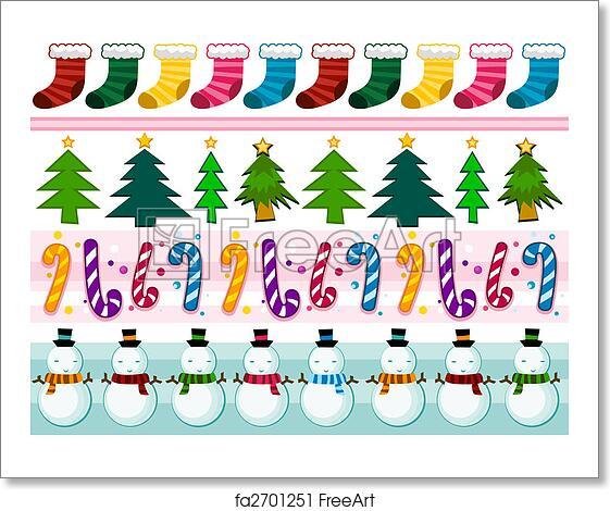 Christmas Borders Free.Free Art Print Of Christmas Borders