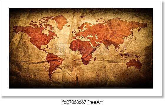 Free art print of Antique world map in grunge wooden frame Map In Frame on maps in text, maps in art, maps in home, maps in paintings, maps in paper, maps in wood,