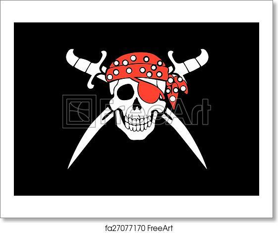 Free Art Print Of Jolly Roger Pirate Flag